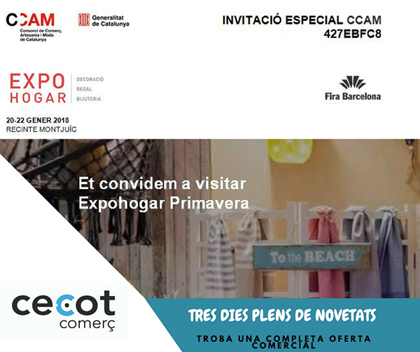 Invitació a Expohogar Primavera